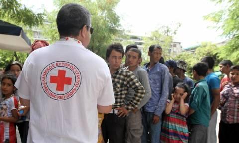 Ελληνικός Ερυθρός Σταυρός: Ανθρωπιστική βοήθεια σε πρόσφυγες στον Ελαιώνα