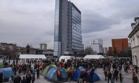 Κόσοβο: Διαδηλωτές συγκεντρώθηκαν στην Πρίστινα ζητώντας την παραίτηση της κυβέρνησης