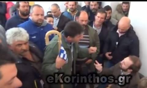 Κόρινθος: Αγρότες τα «έψαλλαν» σε βουλευτές του ΣΥΡΙΖΑ (vid)