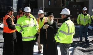 Ο Αρχιεπίσκοπος Αμερικής στον υπό ανέγερση Ναό του Αγ.Νικολάου στο Μανχάταν (pics)
