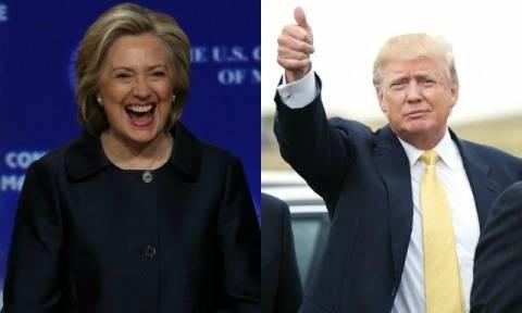 «Σούπερ Τρίτη» για Χίλαρι Κλίντον και Ντόναλντ Τραμπ – Δείτε τα αποτελέσματα