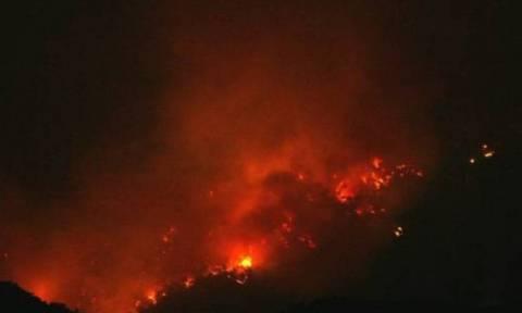 Σε εξέλιξη πυρκαγιά σε περιοχή των Σφακίων