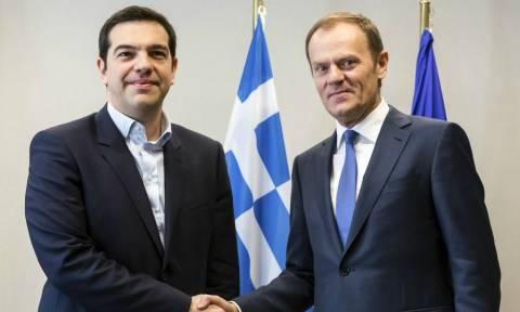 Τσίπρας: Η Ελλάδα δεν θα γίνει αποθήκη ψυχών - Τουσκ: Οι Έλληνες πληρώνουν ένα πολύ υψηλό τίμημα