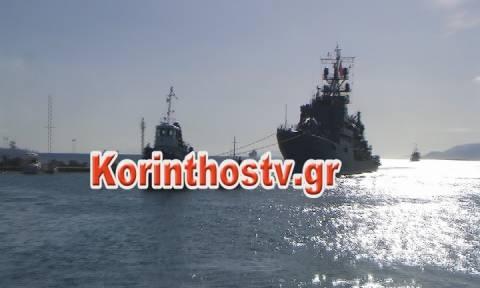 Τουρκικό πολεμικό πλοίο πέρασε (ξανά) από τον Ισθμό της Κορίνθου (vid)