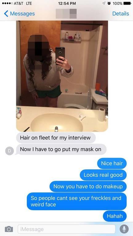 Η πιο ντροπιαστική σέλφι! Δείτε τι έστειλε κατά λάθος στους γονείς της! (photos)