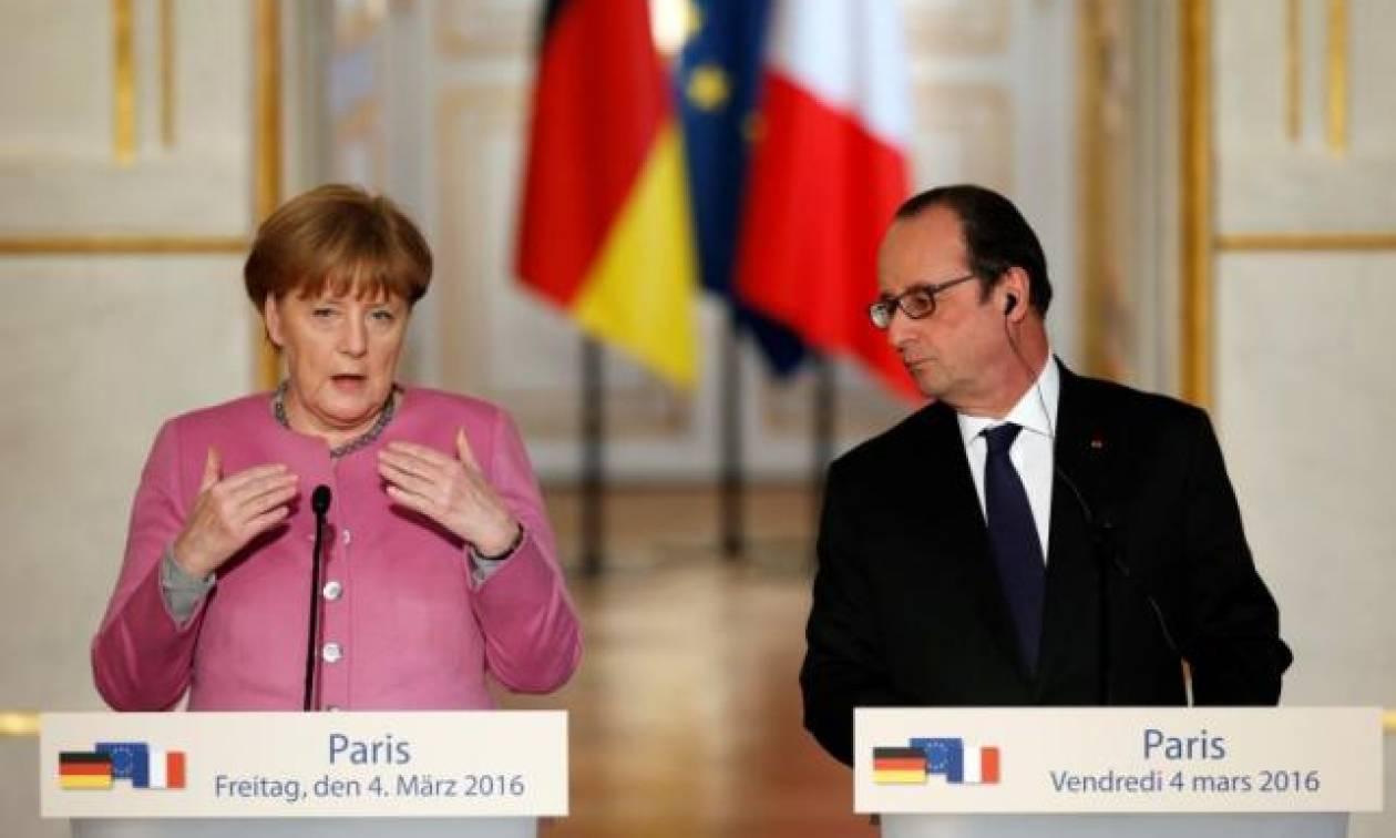 Ολάντ - Μέρκελ: Αυστηρότερος έλεγχος των εξωτερικών συνόρων της Ε.Ε.