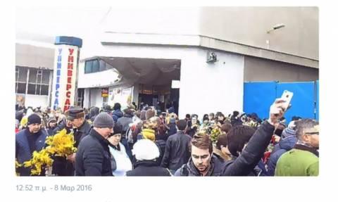 Πανικός σε αγορά της Μόσχας από απειλή για βόμβα