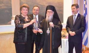 Βράβευση του Αρχιεπισκόπου Δημητρίου από το Ταμείο Βοήθειας Παιδιών της Κύπρου