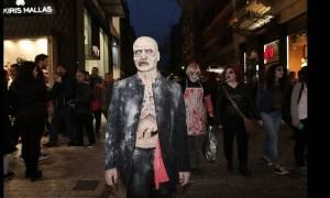 В Афинах состоялся зомби-парад (фоторепортаж)