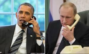 Για Συρία και Ουκρανία μίλησαν Πούτιν και Ομπάμα