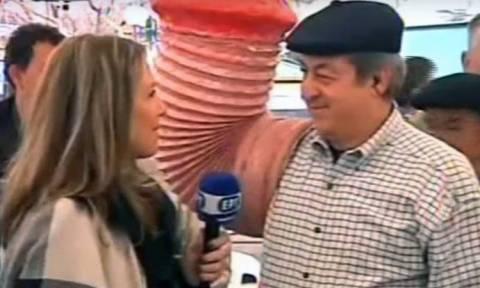 Τύρναβος - Έπαθε... σοκ η ρεπόρτερ με την ευχή που της έδωσαν: «Χρόνια πολλά, καλά γαμ@$%α» (vid)