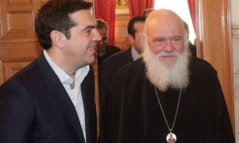 Θρησκευτικά και προσφυγικό στη συνάντηση Τσίπρα - Ιερώνυμου