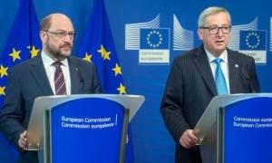 Σύνοδος Κορυφής: Αισιόδοξοι Γιούνκερ και Σουλτς για συμφωνία ΕΕ - Τουρκίας