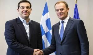 «Τετ-α-τετ» Τσίπρα - Τουσκ:  Άμεση βοήθεια προς την Ελλάδα
