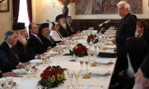 Κυριακή της Ορθοδοξίας: Γεύμα Παυλόπουλου στα μέλη της Διαρκούς Ιεράς Συνόδου