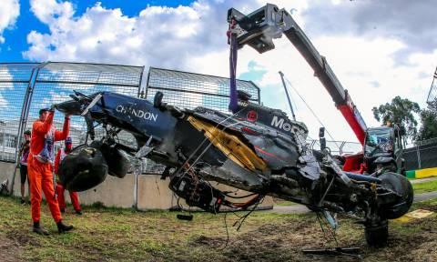 Το τρομακτικό ατύχημα του Αλόνσο της Formula 1 σε εικόνες