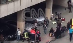 Τρομοκρατικές επιθέσεις Βρυξέλλες: Αποκλειστικές εικόνες του CNN Greece από το Μετρό