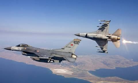 Ξέφυγαν οι Τούρκοι: 10 πολεμικά αεροσκάφη στο Αιγαίο