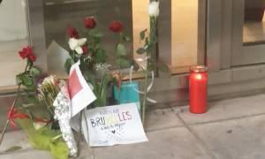 Τρομοκρατικές επιθέσεις Βρυξέλλες - Αθήνα: Φόρος τιμής στα θύματα έξω από τη βελγική πρεσβεία