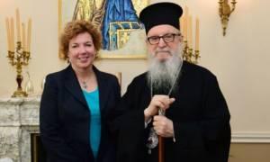Ο Αρχιεπίσκοπος Αμερικής συναντήθηκε με την Πρέσβη των ΗΠΑ στην Κύπρο