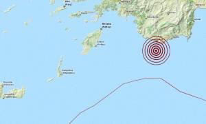 Σεισμός 4,2 Ρίχτερ νότια του Καστελόριζου (pic)
