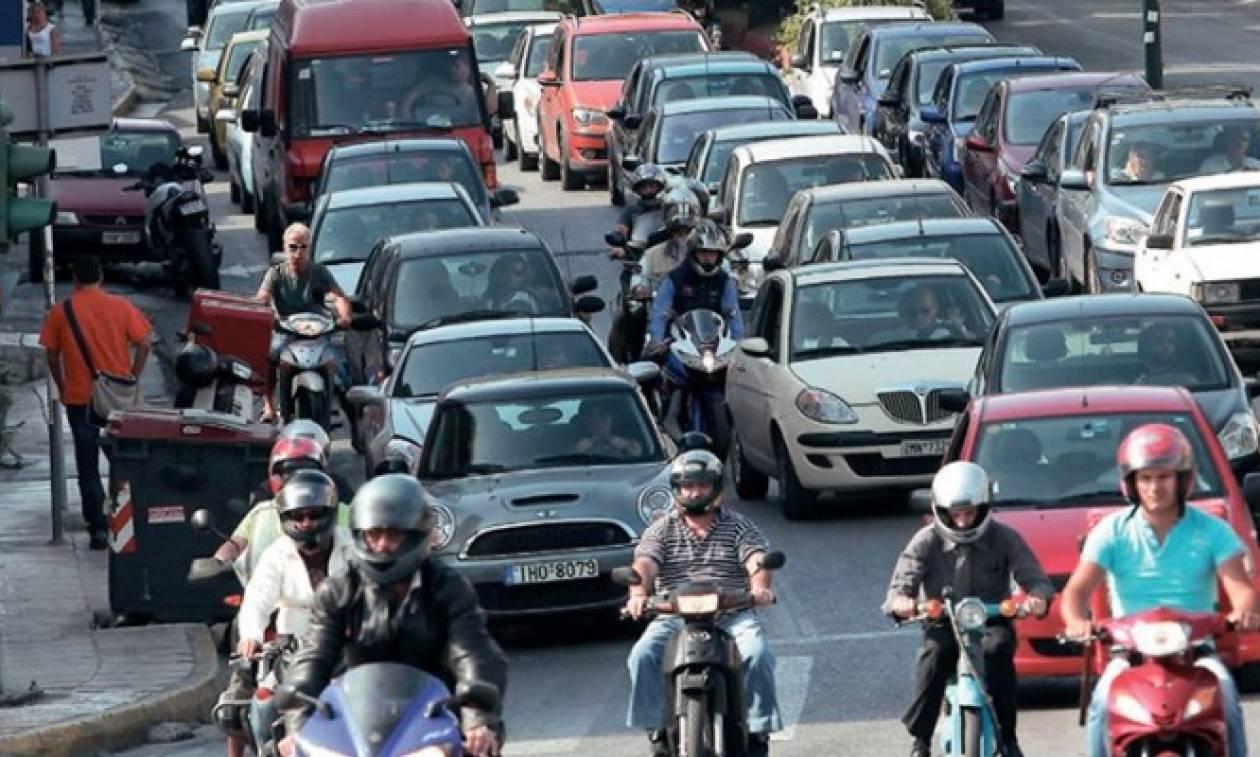Κυκλοφοριακό χάος στο κέντρο της Αθήνας