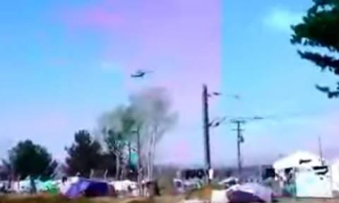 Σκοπιανό στρατιωτικό ελικόπτερο παραβιάζει τον εθνικό εναέριο χώρο στην Ειδομένη (vid)