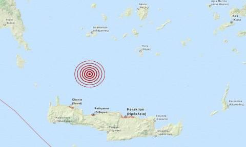 Σεισμός 3,7 Ρίχτερ στο Κρητικό Πέλαγος (pic)