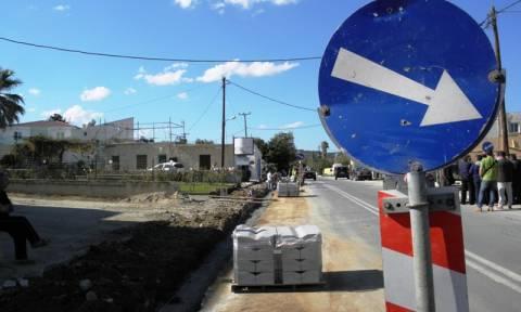 Κλειστός μέχρι τις 31/3 ο δρόμος Καστέλι - Χερσόνησος