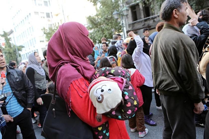 В Афинах проходят массовые протесты беженцев, требующих отмены соглашений ЕС-Турция