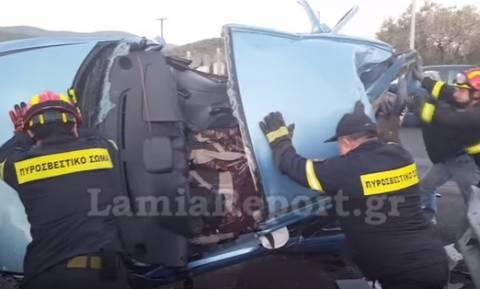 Το σημείο του ατυχήματος που έχασε τη ζωή της η θεία του Γιώργου Τσαλίκη (video)