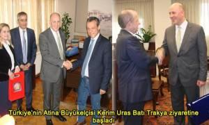 O Τούρκος πρέσβης Κερίμ Ουράς στην Δυτική Θράκη