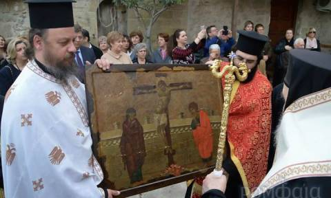 Η Καλαμπάκα υποδέχθηκε την εικόνα της Σταυρώσεως