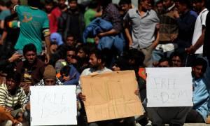 Συνεχίζουν οι πρόσφυγες τις καταλήψεις σε κόμβο Πολύκαστρου και Ειδομένη