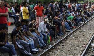 Συγκέντρωση διαμαρτυρίας προσφύγων στον καταυλισμό της Ειδομένης