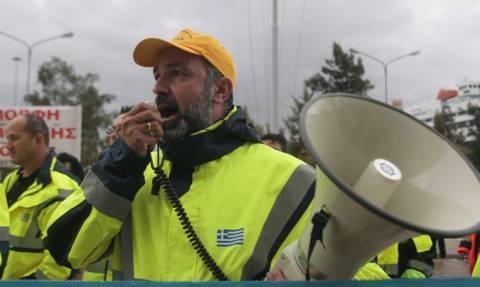 Συγκέντρωση διαμαρτυρίας στην πλατεία Κλαυθμώνος των εργαζομένων στα λιμάνια
