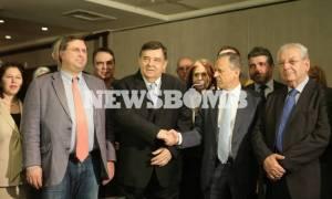 Εθνική Ενότητα: Το νέο κόμμα που ιδρύουν Μπαλτάκος και Καρατζαφέρης (photos+vid)