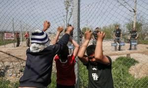 Χάος στην Ειδομένη: Σκοπιανοί αστυνομικοί πυροβόλησαν με πλαστικές σφαίρες  (vid+ pics)