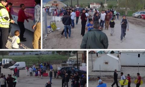 Συμπλοκές και ξύλο μεταξύ προσφύγων στον Κατσικά Ιωαννίνων