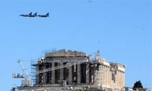 Συναγερμός στην Αθήνα: Μαχητικά αεροσκάφη πέταξαν σε πολύ χαμηλό ύψος – Τι συνέβη