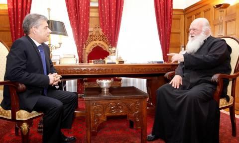 Συνάντηση Αρχιεπίσκοπου Ιερώνυμου με τον Κώστα Αγοραστό