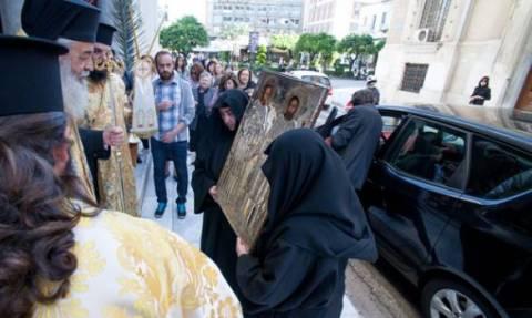 Η θαυματουργή εικόνα των Αγίων Αναργύρων στην Λαμία