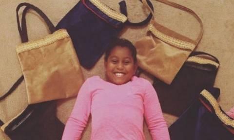 Είναι μόλις 9 ετών και φτιάχνει τσάντες για τις άστεγες γυναίκες