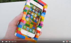 Να τι συμβαίνει όταν πετάξεις ένα iPhone σε θήκη από Lego από ύψος 30 μέτρων (Vid)