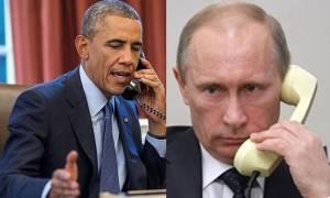 Τηλεφωνική επικοινωνία Πούτιν και Ομπάμα για παύση των εχθροπραξιών στην Συρία