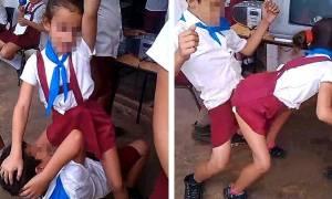 Σάλος με αρρωστημένο βίντεο που δείχνει μικρούς μαθητές να χορεύουν αισθησιακά! (video)