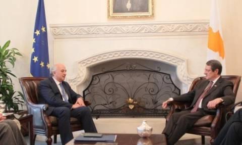 На Кипре проходит встреча Никоса Анастасиадиса и замминистра иностранных дел Иоанниса Аманатидиса