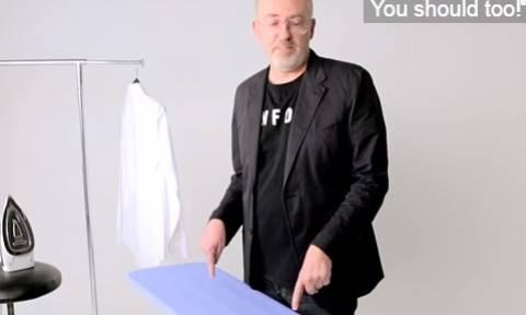 Το απόλυτο κόλπο: Πώς να σιδερώσεις ένα πουκάμισο σε μόλις 90 δεύτερα (video)