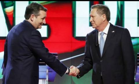US election 2016: Cruz and Kasich team up to slow Trump