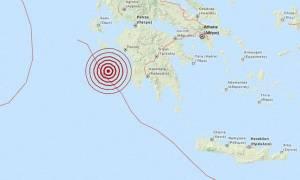 Σεισμός 4 Ρίχτερ δυτικά της Πελοποννήσου (pic)